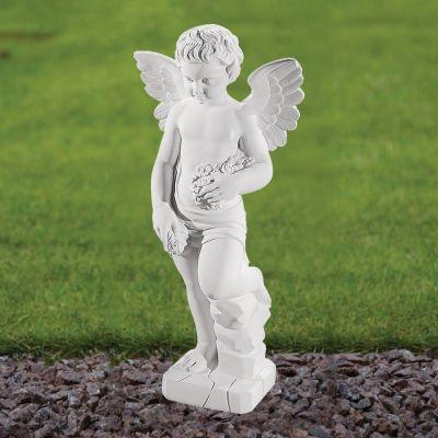 Cherub Figurine 60cm Religious Sculpture - Marble Garden Statue