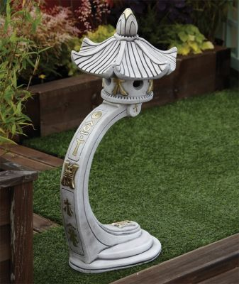Curved Japanese Pagoda Lantern - Large Chinese Garden Ornament