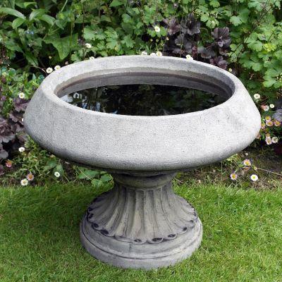 Edwardian Design Stone Birdbath Feeder - Garden Bird Bath