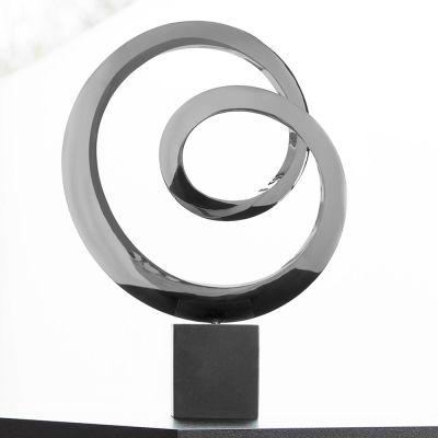 Ellipse Metal Sculpture - Indoor Contemporary Art Statue