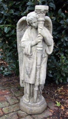 Fallen Angel Stone Sculpture - Large Garden Statue