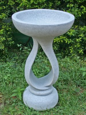 Grasmere Granite Resin Contemporary Garden Bird Bath