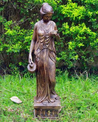 Hebe 85cm Bronze Marble Resin Garden Statue