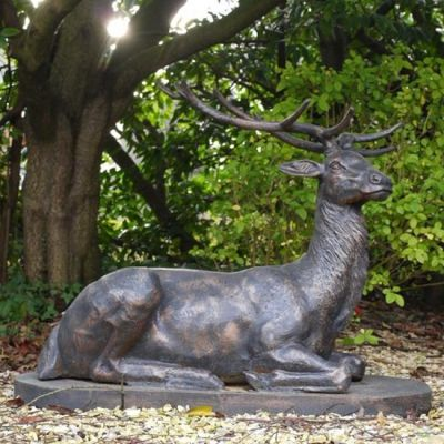 Large Life Size Bronze Stag Sculptures - Deer Garden Ornaments
