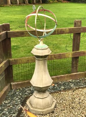 Large Marino Armillary Stone Sun Dial - Garden Sundial