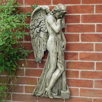 Religious Angel Hanging Plaque Decor - Garden Wall Art