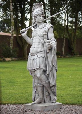 Roman Gladiator Stone Sculpture - Large Garden Statue
