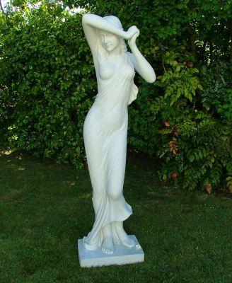 Shy Maiden Statue - Garden Sculpture Ornament Art