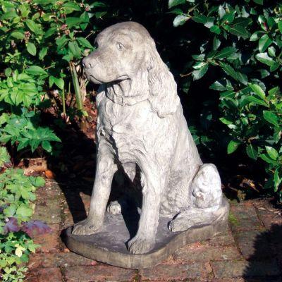 Spaniel Dog Statue Sculpture - Large Garden Ornament