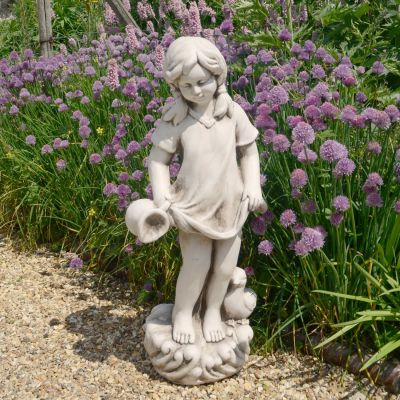 Summer Girl 71cm Antique Stone Garden Statue