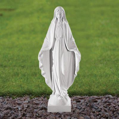 Virgin Mary 41cm Religious Sculpture - Marble Garden Statue