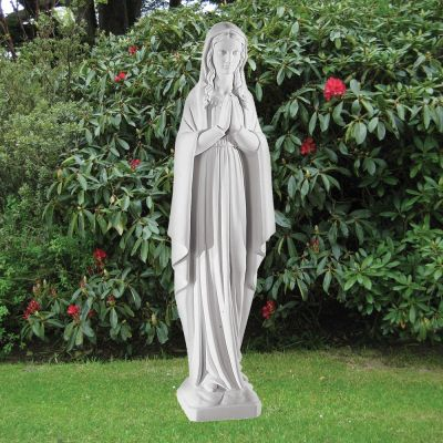 Virgin Mary 78cm Religious Sculpture - Marble Garden Statue