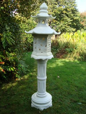 White Chinese Lantern Ornament - Garden Lighting