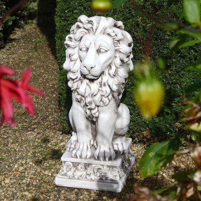 Royal Lion Antique Stone Garden Statue