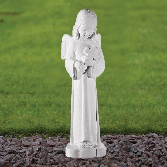 Angel Figurine 50cm Religious Statue - Marble Garden Ornament