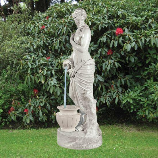 Garden Sculpture - Jug Lady 175cm Marble Water Feature
