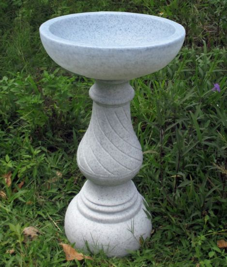 Buttermere Granite Resin Modern Garden Bird Bath
