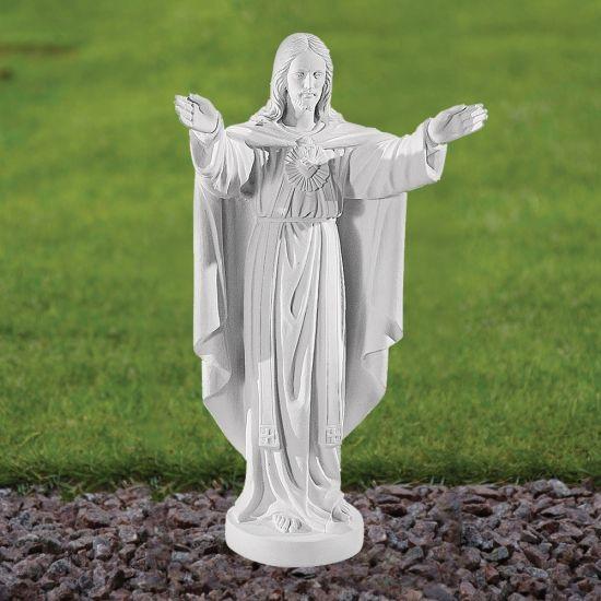 Jesus Christ 79cm Religious Sculpture - Marble Garden Statue