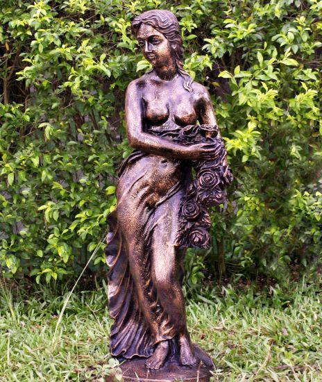 Korinna 85cm Bronze Marble Resin Garden Statue
