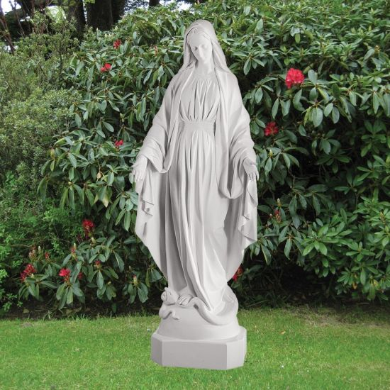 Virgin Mary 185cm Religious Sculpture - Marble Garden Statue