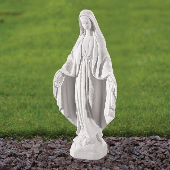Virgin Mary 35cm Religious Sculpture - Marble Garden Statue