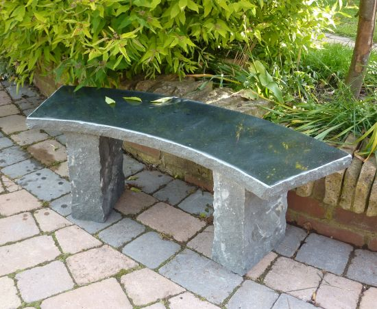 Windsor Polished Granite Stone Bench - Large Garden Benches