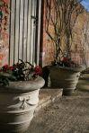 "12"" Ribbon Stone Vase Planter - Large Garden Planters"