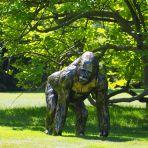 Gorilla Life-Size Bronze Metal Garden Statue