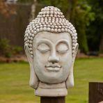 Buddha Head Stone Bust Statue - Large Garden Ornament
