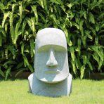 Easter Island Head 80cm Natural Sandstone Garden Statue