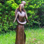 Everlasting Love 85cm Bronze Marble Resin Garden Statue