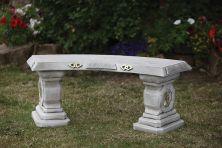 Japanese Design Stone Bench - Large Garden Benches