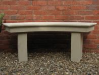 Modern Single Curved Stone Bench - Large Garden Benches