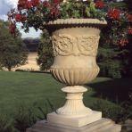Montpellier Stone Vase Planter & Pedestal - Large Garden Vases