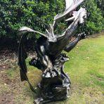 Mystical Dragon 232cm Bronze Metal Garden Statue