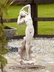 Nude Shell Girl Stone Figurine Sculpture - Large Garden Statue
