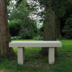 Pure Modern Single Straight Stone Bench - Large Garden Benches