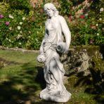 Roman Goddess with Urns 79cm White Stone Garden Statue