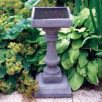Small Baluster Stone Bird Bath - Garden Birdbath Feeder