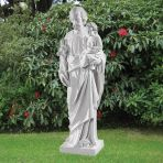 St. Joseph 79cm Religious Sculpture - Marble Garden Statue