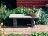 Straight Plain Top Stone Bench - Large Garden Bench