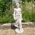 Summer Maiden 84cm Four Seasons White Stone Garden Statue