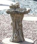 Twin Feeder Stone Birdbath - Garden Bird Bath