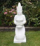 White Thai Princess Statue - Large Garden Sculpture Ornament