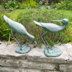Sandpipers Antique Bronze Metal Garden Ornaments