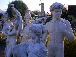 Easter tips from your garden statue