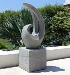 Curvation Modern Art Stone Statue - Large Garden Sculpture