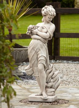 Adele Rose Stone Figurine Sculpture - Large Garden Statue