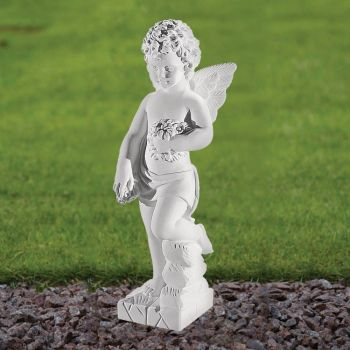 Angel Figurine 44cm Religious Statue - Marble Garden Ornament