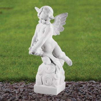 Angel Figurine 48cm Religious Statue - Marble Garden Ornament